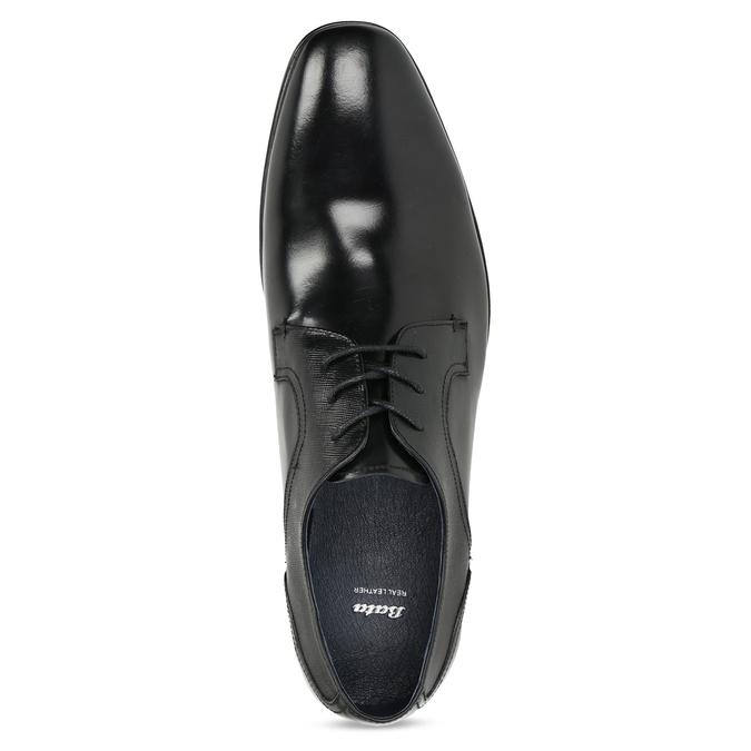 Kožené černé pánské polobotky bata, černá, 824-6758 - 17