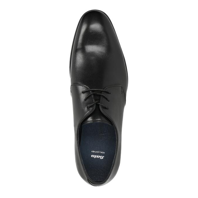 Černé kožené polobotky bata, černá, 824-6754 - 19