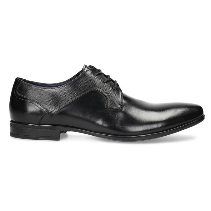 Kožené černé pánské polobotky bata, černá, 824-6758 - 19