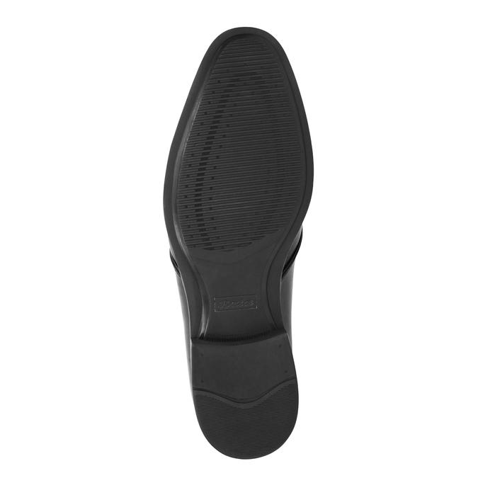 Černé kožené polobotky bata, černá, 824-6754 - 26