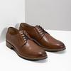 Pánské kožené polobotky na silnější podešvi bata, hnědá, 826-3809 - 26