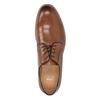 Pánské kožené polobotky na silnější podešvi bata, hnědá, 826-3809 - 17