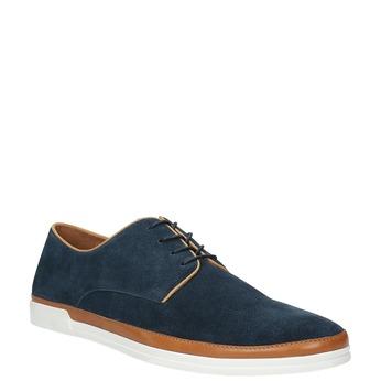 Ležérní kožené polobotky bata, modrá, 843-9623 - 13