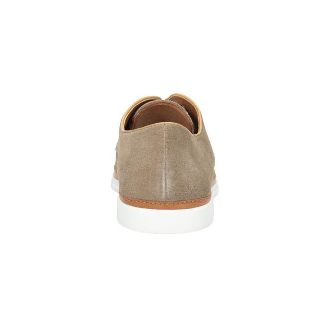 Ležérní kožené polobotky bata, béžová, 843-8623 - 17