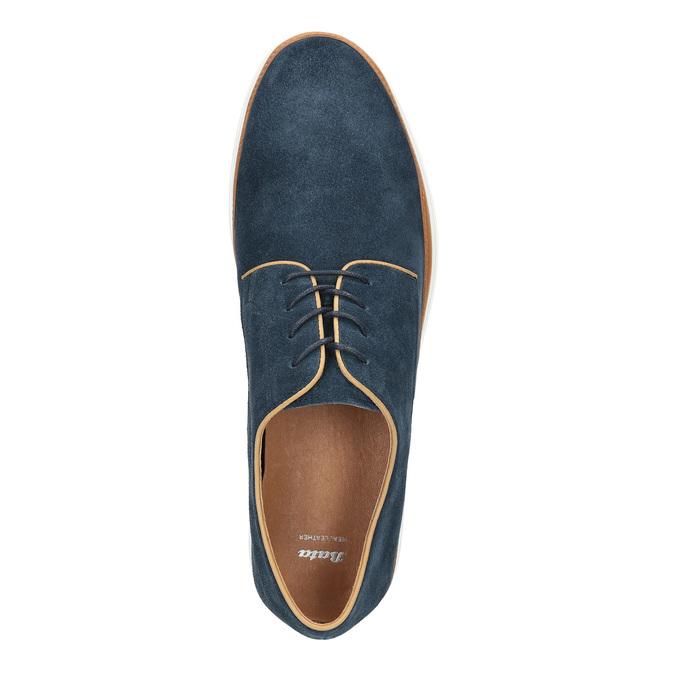 Ležérní kožené polobotky bata, modrá, 843-9623 - 19
