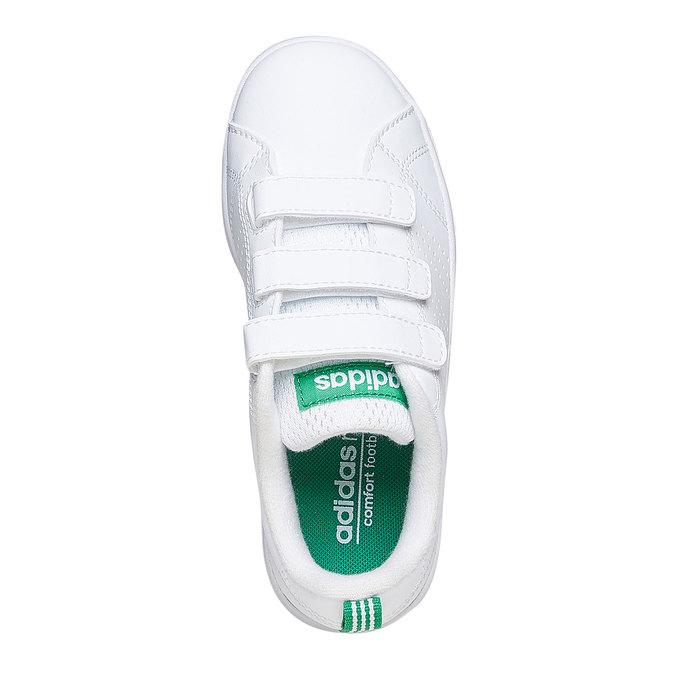 Dětské bílé tenisky na suché zipy adidas, bílá, 301-1168 - 19