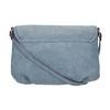 Crossbody kabelka s perforovanou klopou bata, modrá, 961-9709 - 19