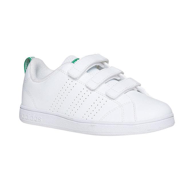 Dětské bílé tenisky na suché zipy adidas, bílá, 301-1168 - 13