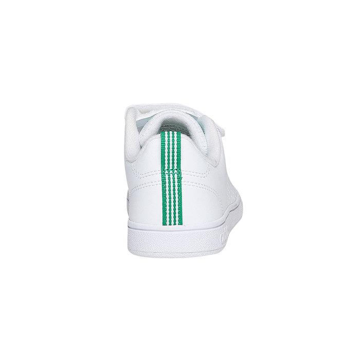 Dětské bílé tenisky na suché zipy adidas, bílá, 301-1168 - 17