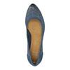 Perforované lodičky na platformě bata, modrá, 626-9638 - 19