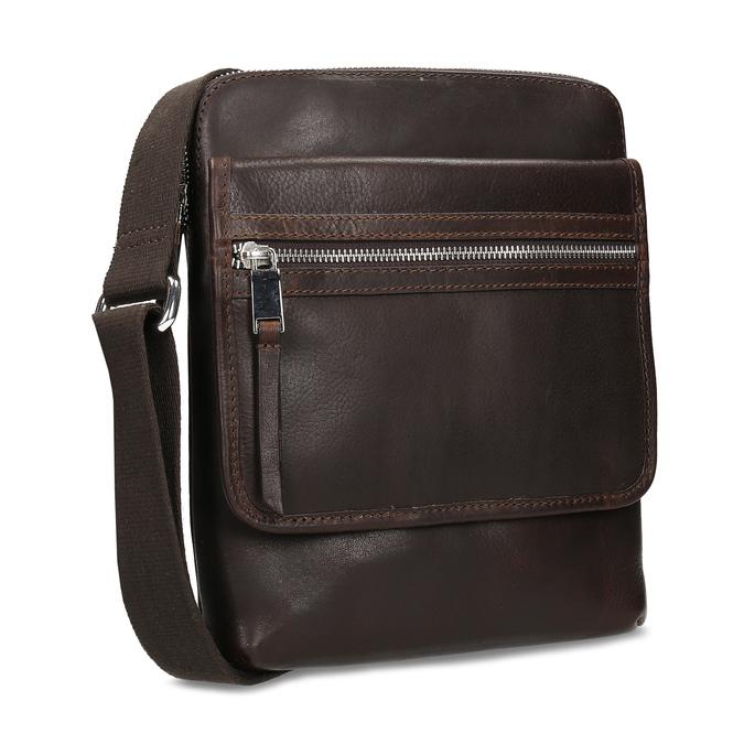 Kožená taška Crossbody bata, hnědá, 964-4237 - 13