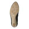 Kožené lodičky na klínovém podpatku bata, černá, 626-6638 - 26