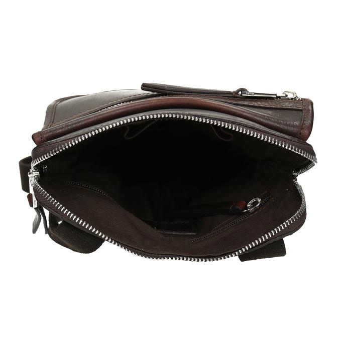 Kožená taška Crossbody bata, hnědá, 964-4237 - 15