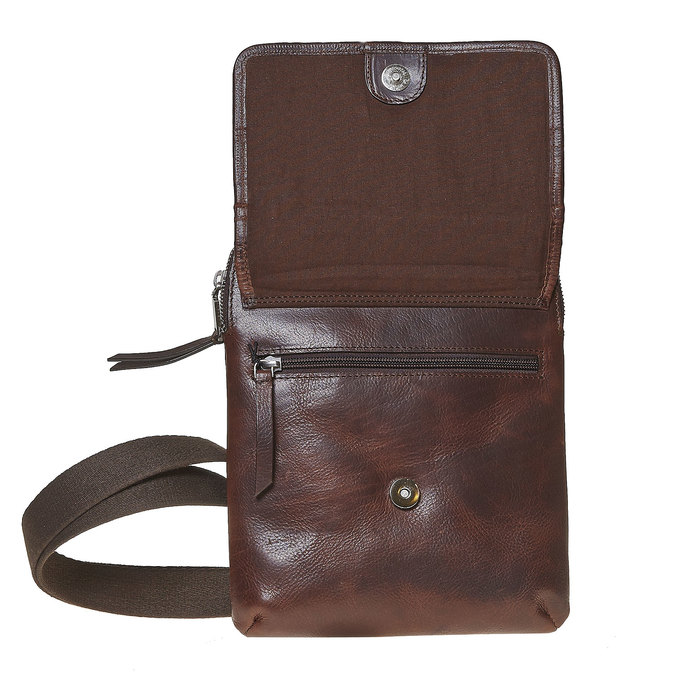 Kožená taška Crossbody bata, hnědá, 964-4237 - 17