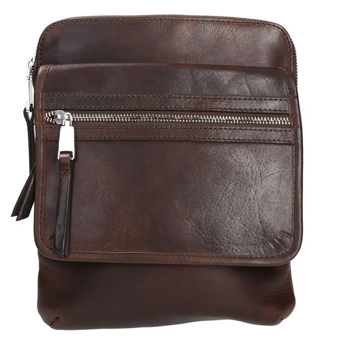 Kožená taška Crossbody bata, hnědá, 964-4237 - 19