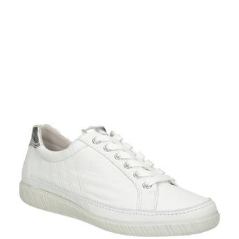 Bílé kožené tenisky gabor, bílá, 626-1204 - 13