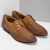 Ležérní kožené polobotky s perforací bata, hnědá, 856-3601 - 26