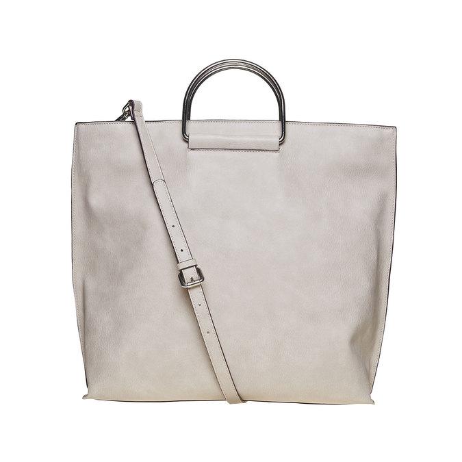 Krémová dámská kabelka bata, šedá, 961-8327 - 26