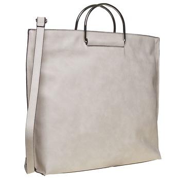 Krémová dámská kabelka bata, šedá, 961-8327 - 13