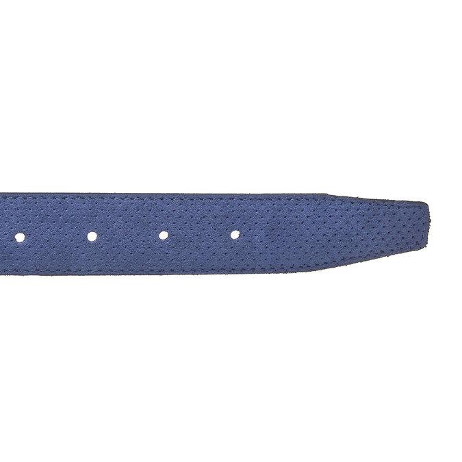 Kožený pánský pásek s perforací bata, modrá, 953-9325 - 16