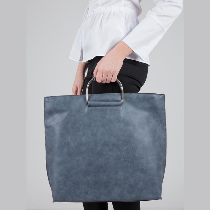Modrá dámská kabelka bata, modrá, 961-9327 - 17