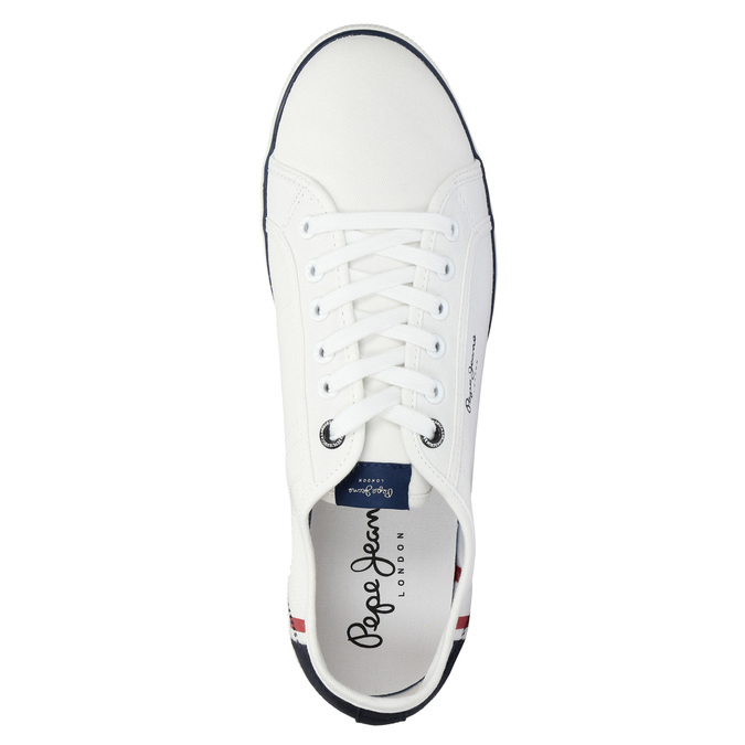 Pánské bílé tenisky pepe-jeans, bílá, 849-1015 - 19