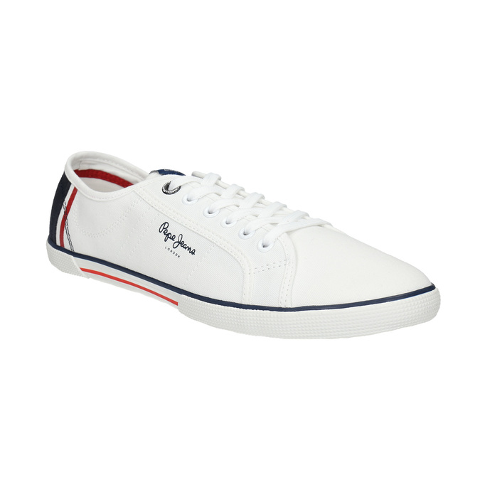 Pánské bílé tenisky pepe-jeans, bílá, 849-1015 - 13