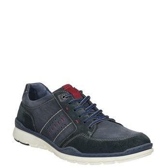 Ležérní tenisky z broušené kůže bata, modrá, 846-9639 - 13