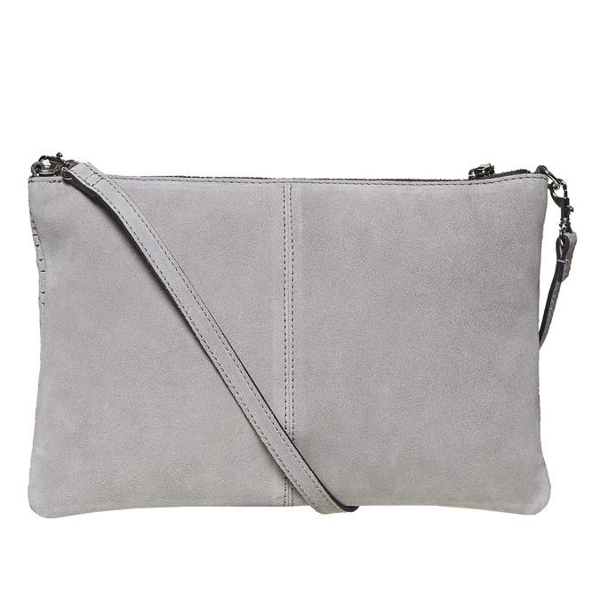 Kožená Crossbody kabelka bata, šedá, 963-2135 - 26