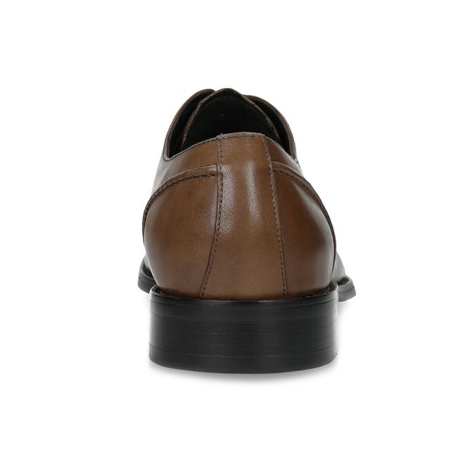 Hnědé kožené pánské Derby polobotky bata, hnědá, 826-3646 - 15