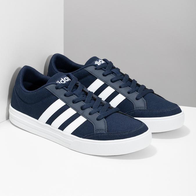 Modré textilní tenisky pánské adidas, modrá, 889-9235 - 26
