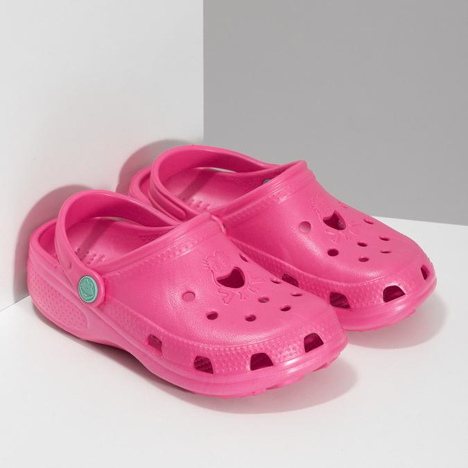 Růžové dívčí sandály coqui, růžová, 372-5604 - 26