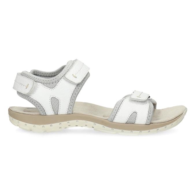 Kožené dámské sandály v Outdoor stylu weinbrenner, bílá, 566-1608 - 19