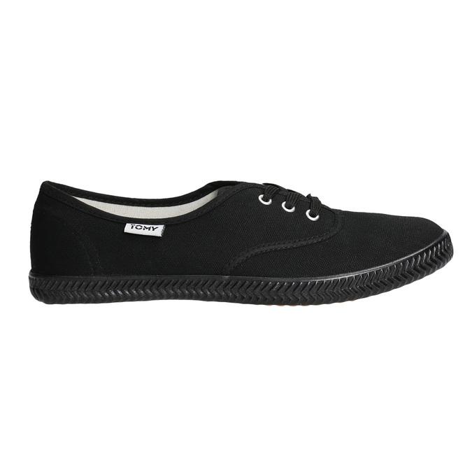 Černé dámské tenisky tomy-takkies, černá, 589-6180 - 15