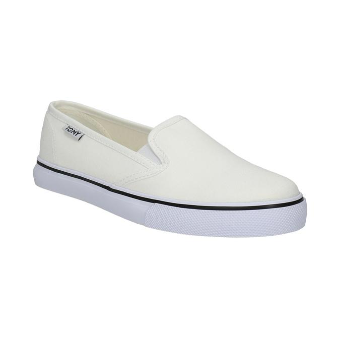 Dámská obuv ve stylu Slip-on tomy-takkies, bílá, 589-1171 - 13