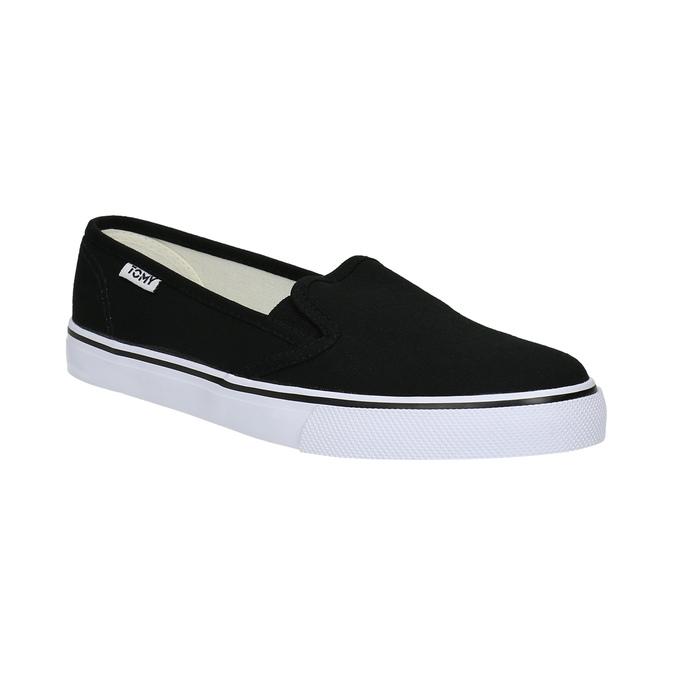 Černé dámské Slip-on tomy-takkies, černá, 589-6170 - 13