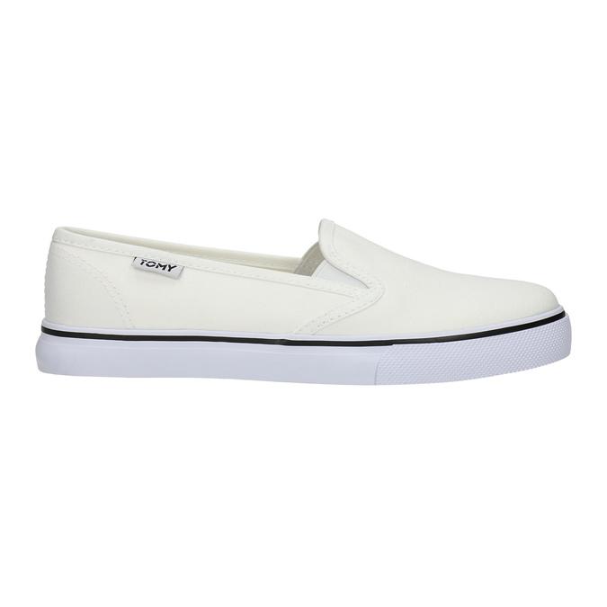 Dámská obuv ve stylu Slip-on tomy-takkies, bílá, 589-1171 - 15