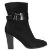 Dámská kotníčková obuv s přezkou bata, černá, 699-6630 - 15