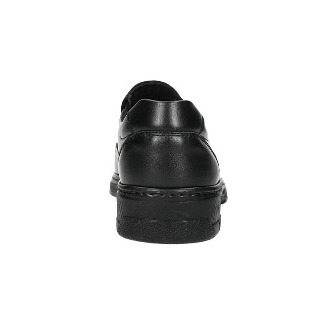 Pánské kožené mokasíny pinosos, černá, 814-6622 - 17