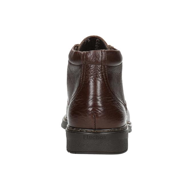 Kožená kotníčková obuv fluchos, hnědá, 824-4450 - 17