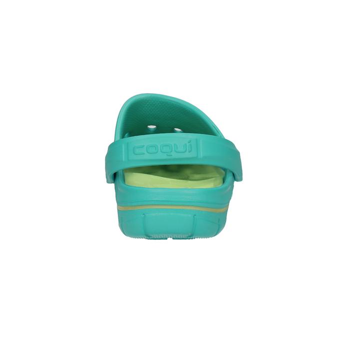 Tyrkysové dámské sandály coqui, tyrkysová, modrá, 572-9606 - 17