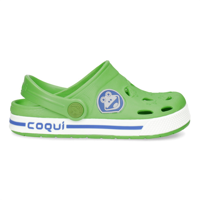 Dětské zelené sandály s žabkou coqui, zelená, 272-7603 - 19