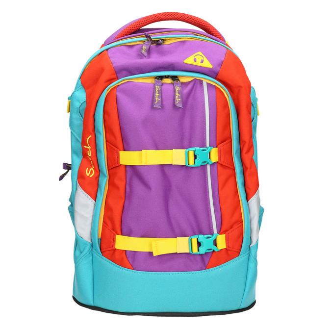 Školní batoh s přezkami satch, tyrkysová, vícebarevné, 969-9062 - 26