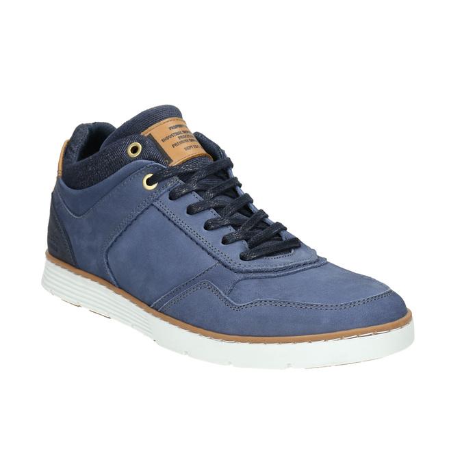 Kožené kotníčkové tenisky bata, modrá, 846-9641 - 13