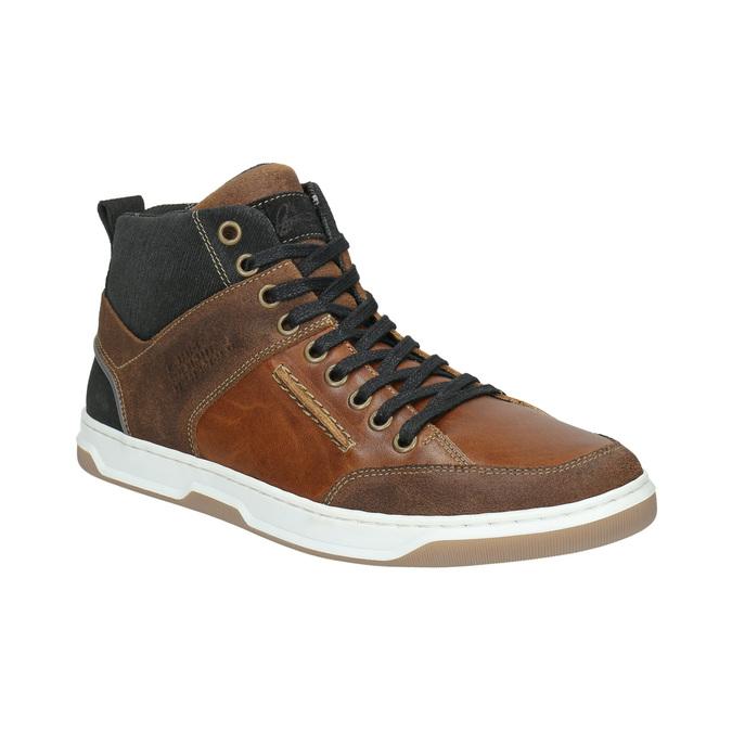 Kožené kotníčkové tenisky bata, hnědá, 846-3640 - 13