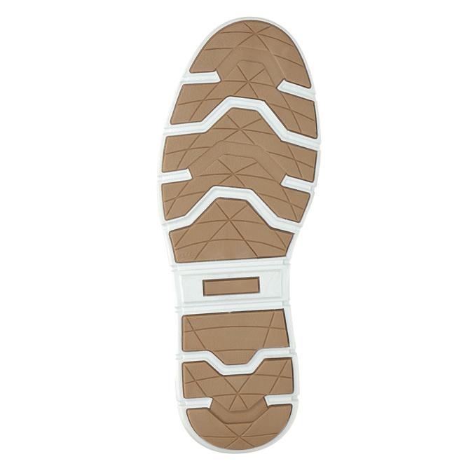 Kožené kotníčkové tenisky bata, modrá, 846-9641 - 19