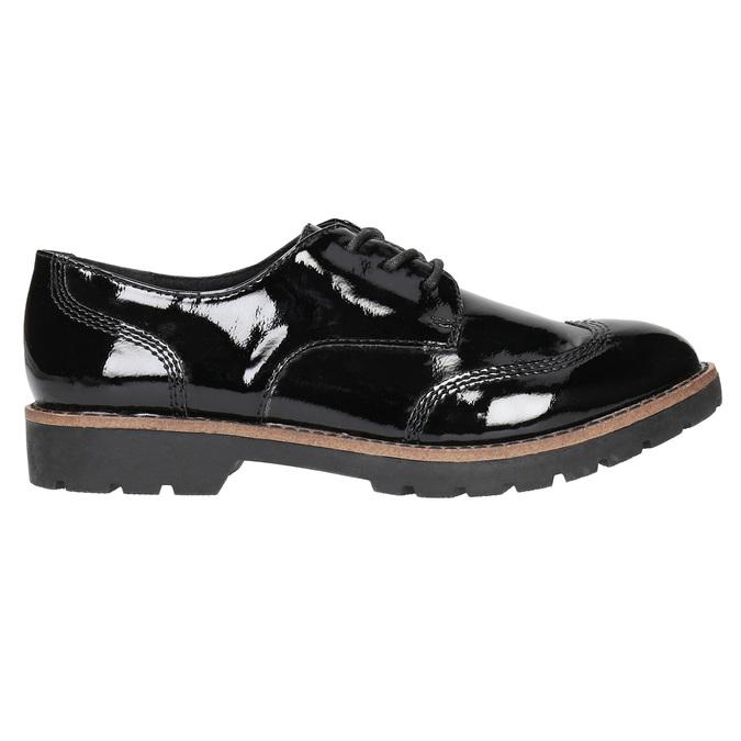 Lakované dámské polobotky bata, černá, 521-6606 - 15