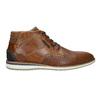 Ležérní kotníčková obuv z kůže bata, hnědá, 826-3912 - 15