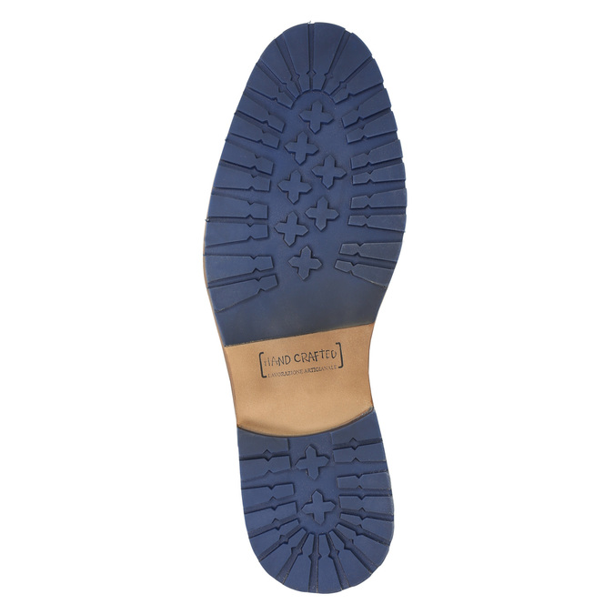 Kožená kotníčková obuv se zipem bata, modrá, 826-9911 - 19