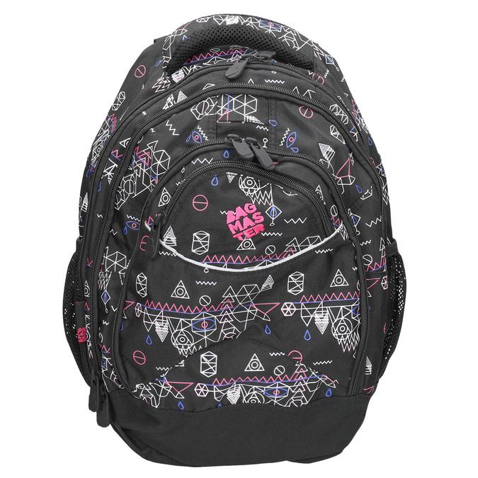 Školní batoh s potiskem bagmaster, černá, 969-6650 - 26